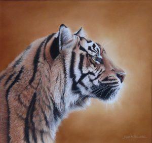 Tiger head print