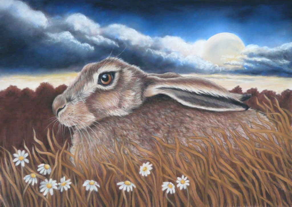 pastel of hare