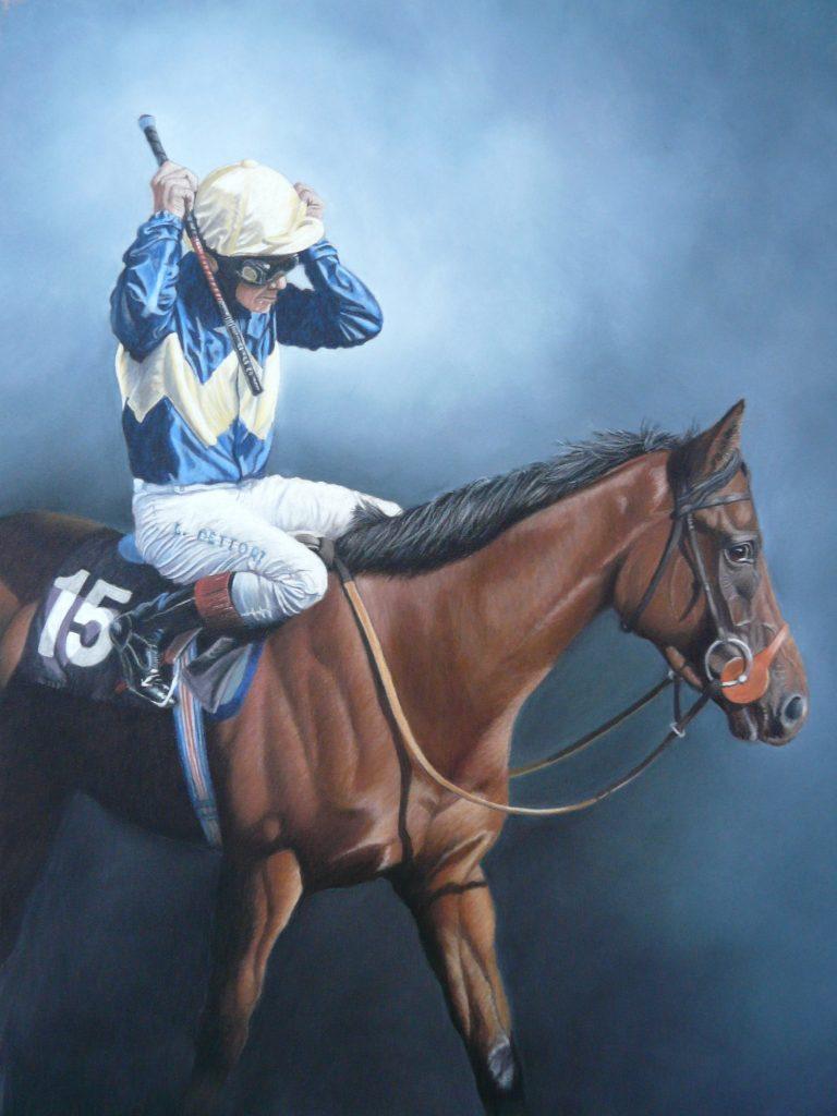 pastel racehorse