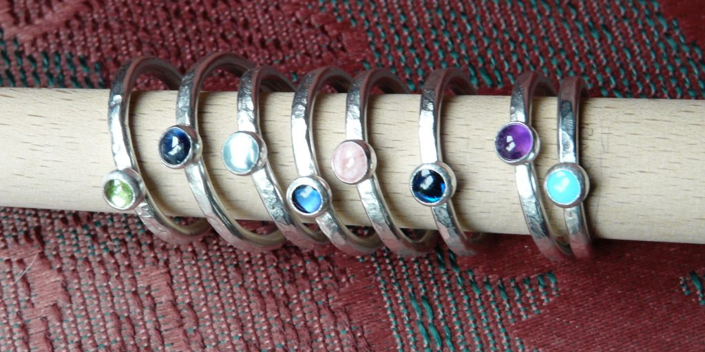 stacking rings with stones