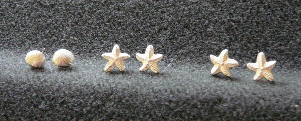 starfish ear rings