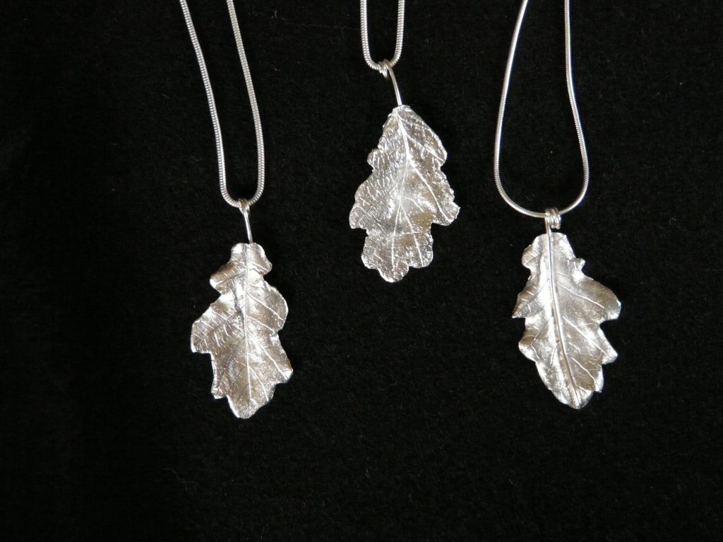 oak leaf pendants