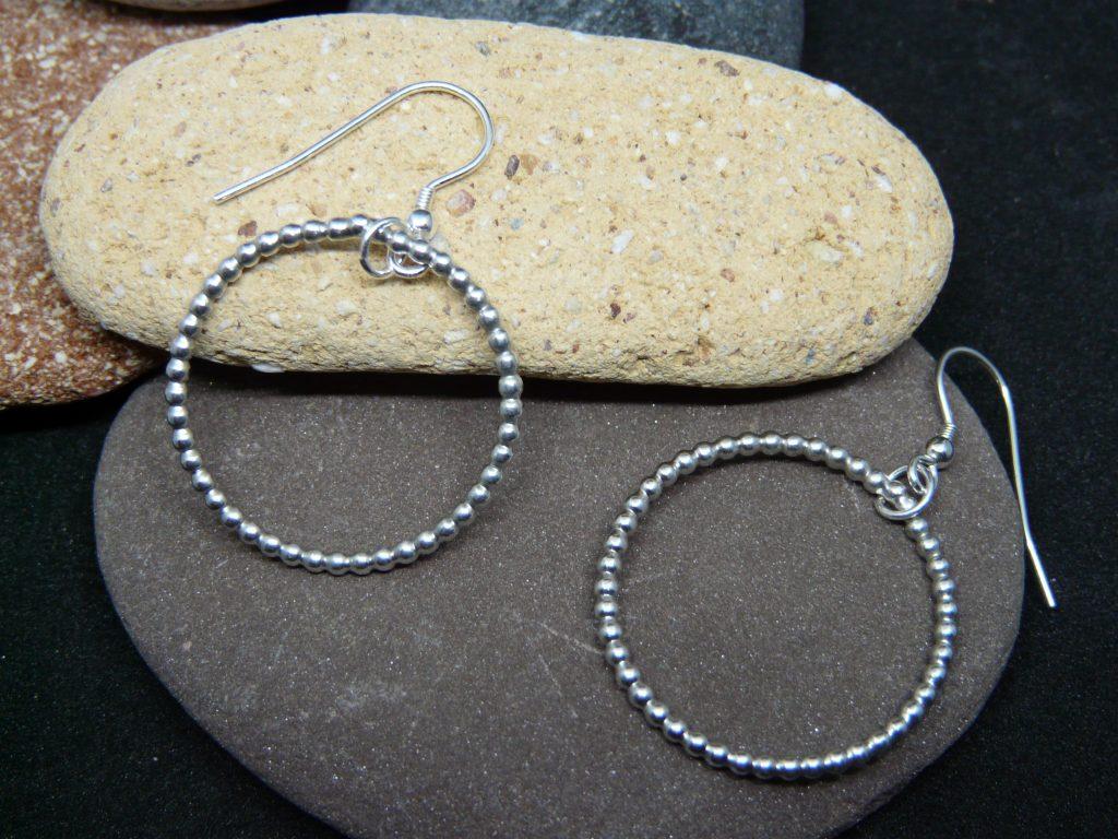 beaded ring ear rings
